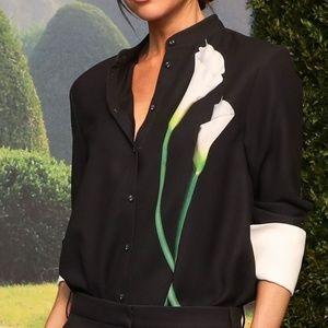 Victoria Beckham Target NWT Calla Lily Shirt L